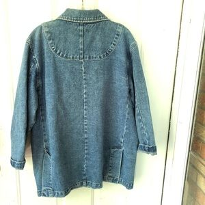 Vintage Jackets & Coats - Vintage Jacket Womens Small Oversized Lagenlook